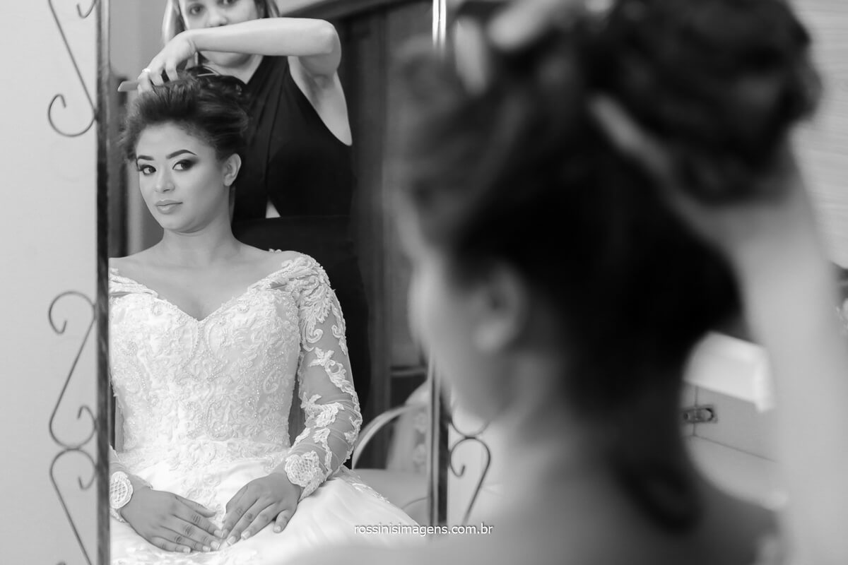 fotografia de casamento penteado de noiva, @RossinisImagens