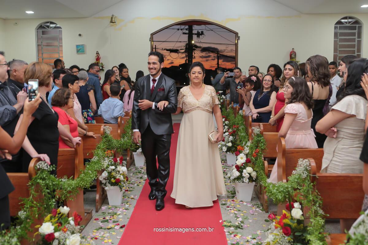fotografo de casamento em sao paulo @RossinisImagens casamento Gilcivan e Cleane Noivo no altar com a mãe