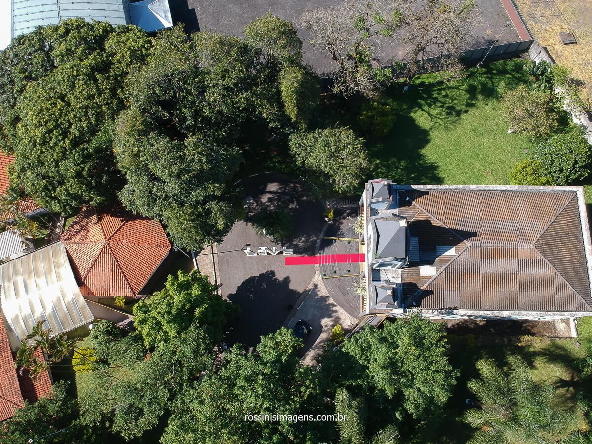 fotografia de casamento aérea do espaço la capella eventos em poa- sp, fotografo de casamento @RossinisImagens