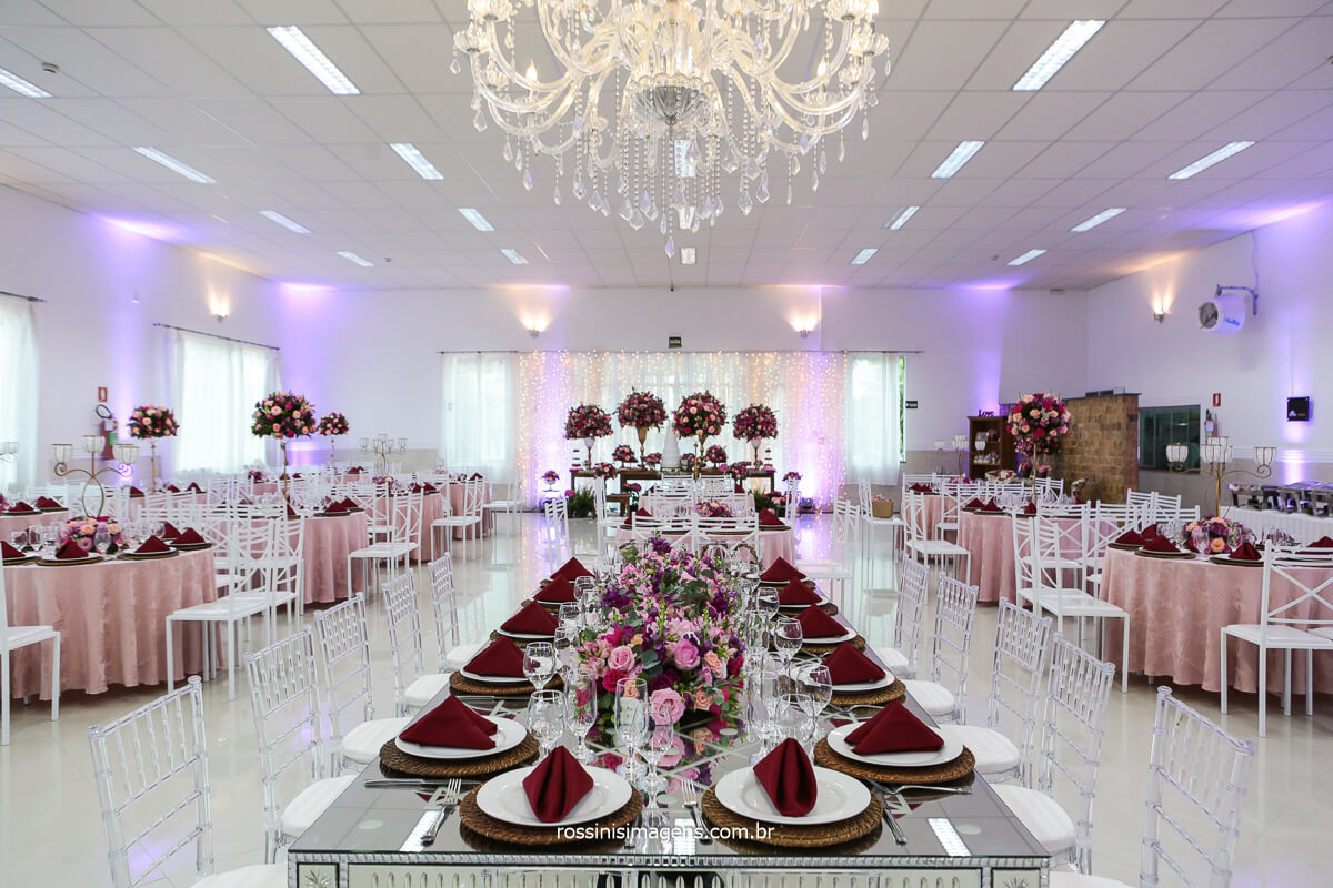 Decoração da Mesa da Família Para Festa de Casamento, Fotografo Rossinis Imagens