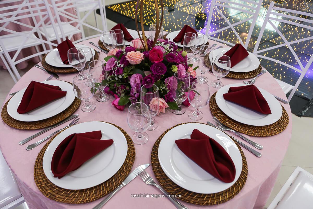 Decoração das Mesas de Convidados, Fotografo Rossinis Imagens