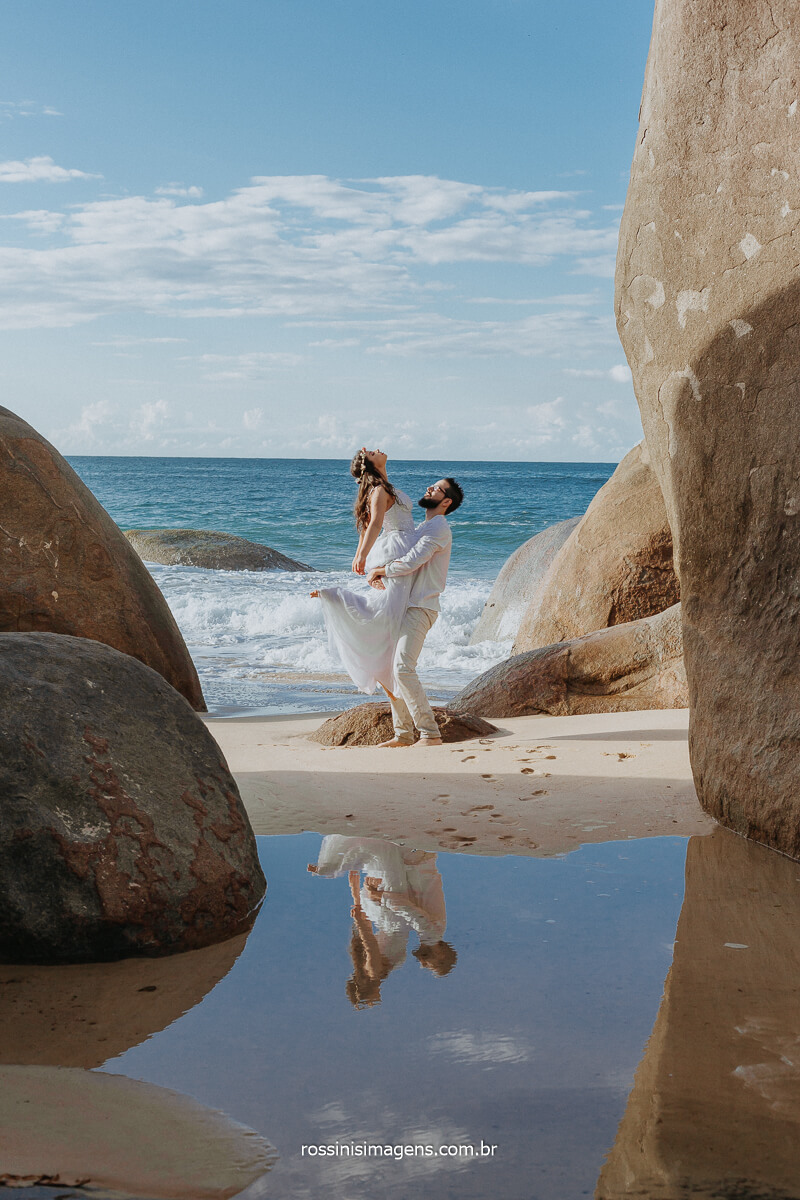 Ensaio na Praia de Casal em RJ, SP, SC, RN Rossinis Imagens