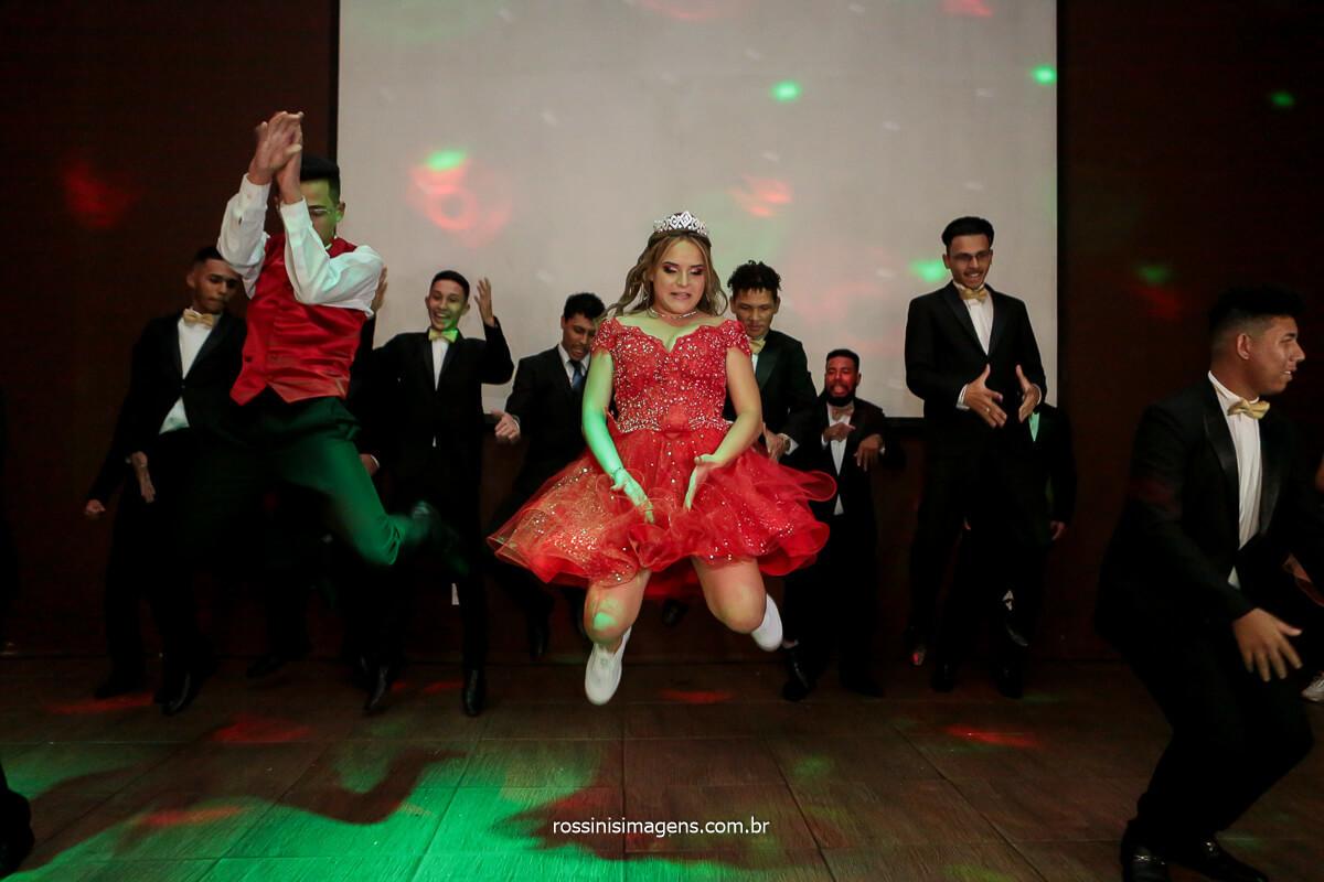 Dança coreografada da debutante
