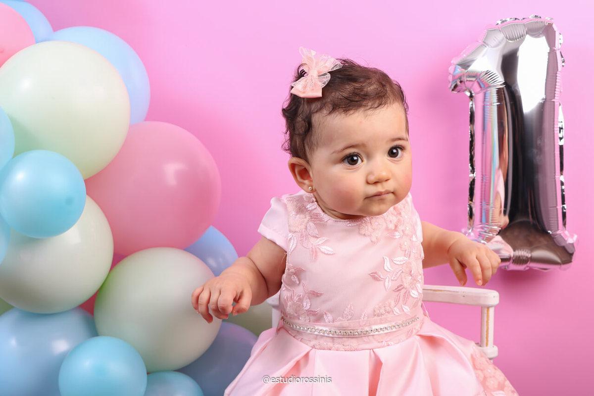 fotografia da laura primeiro aninho, Laura um Ano, @estudiorossinis