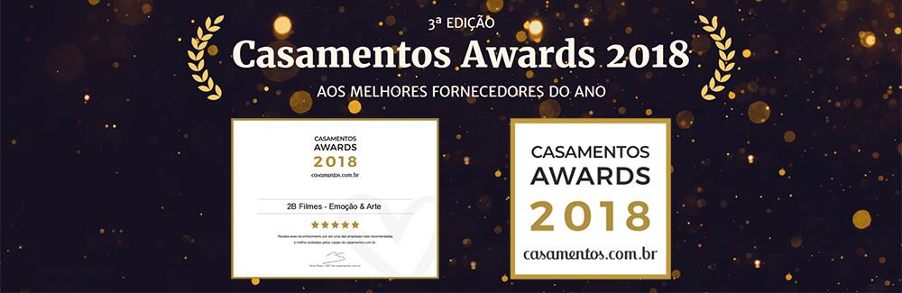 Imagem capa - Prêmio Awards 2018 - 2B Filmes conquista pelo segundo ano consecutivo! por 2B Filmes