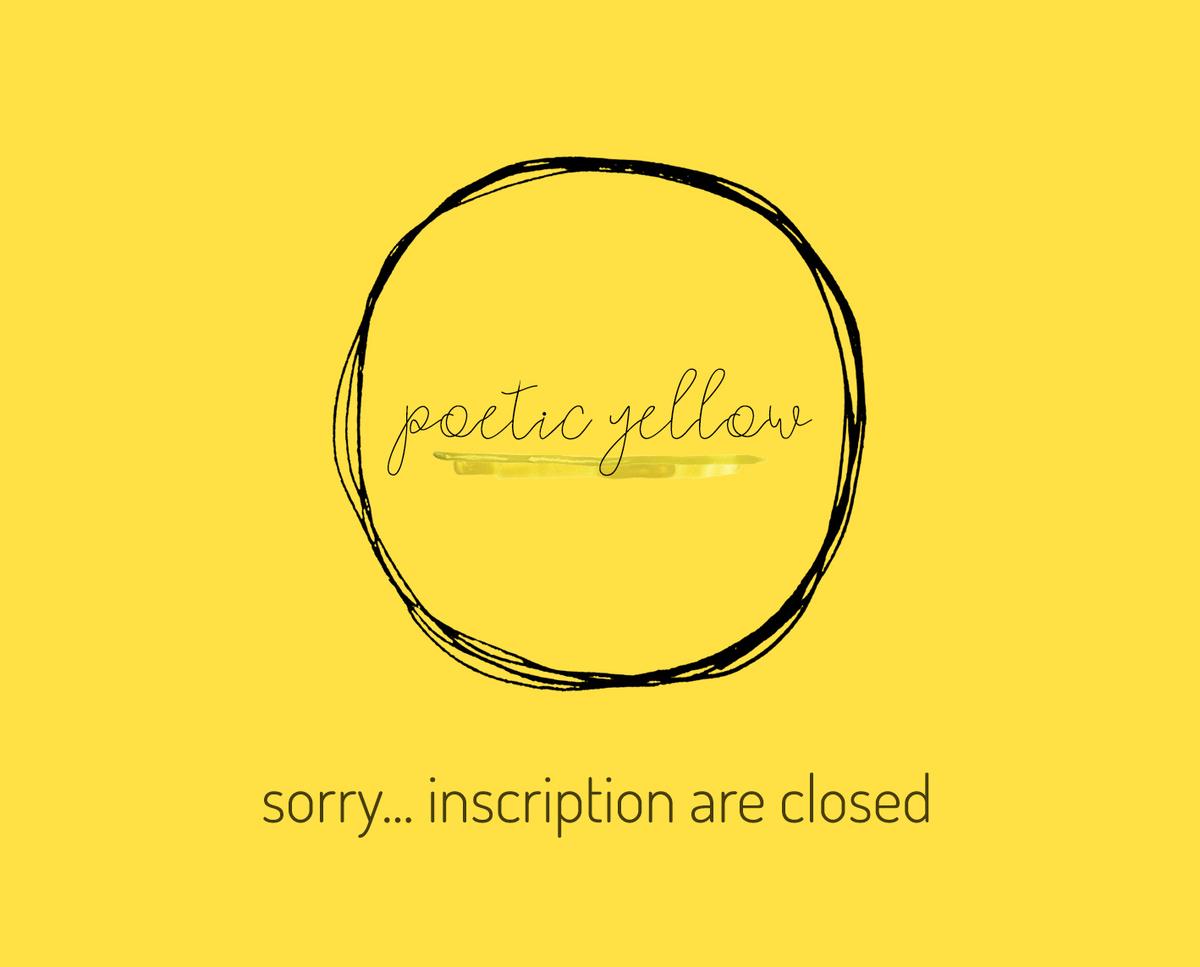 Imagem capa - SORRY... INSCRIPTION ARE CLOSED por yellow for you