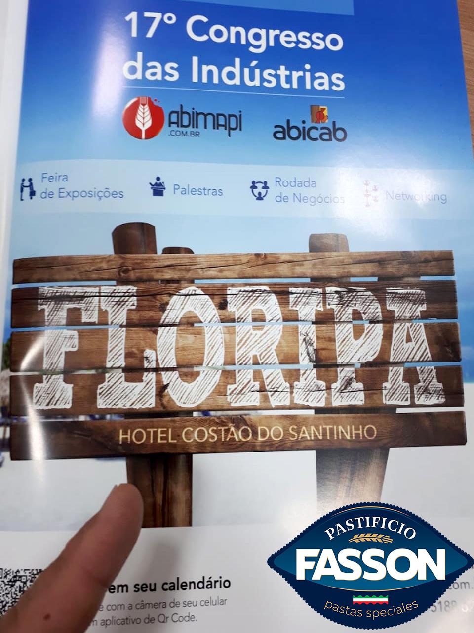 Imagem capa - 17.º Congresso INTERNACIONAL da ABIMAPI em Florianopolis Santa Catarina -De 8 a 10 de Abril em 2021. por pastificiofasson