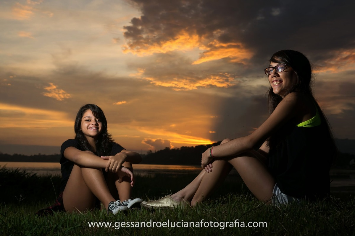 Foto de Malu e Carol