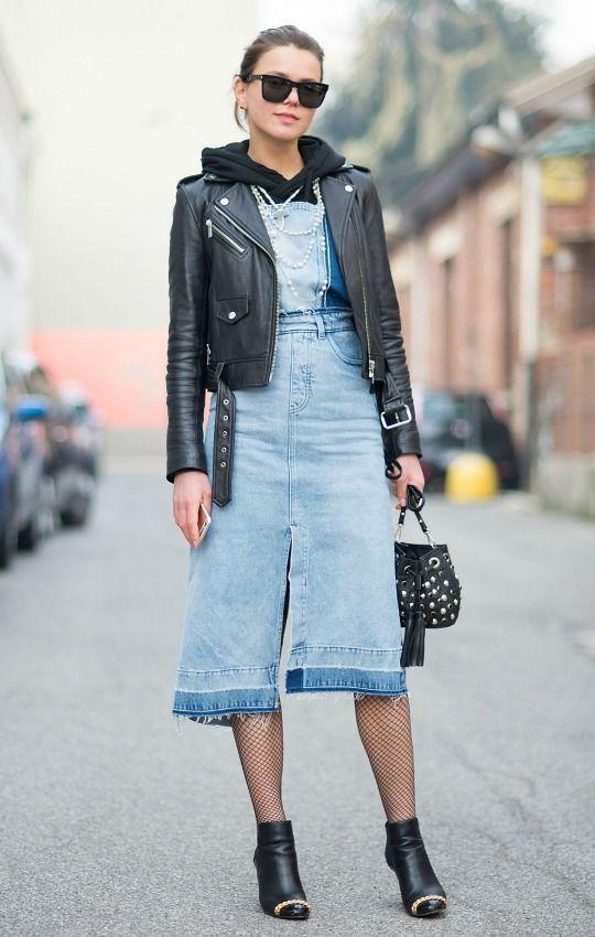 Imagem capa - A versatilidade da saia longa jeans por katia  Garrido
