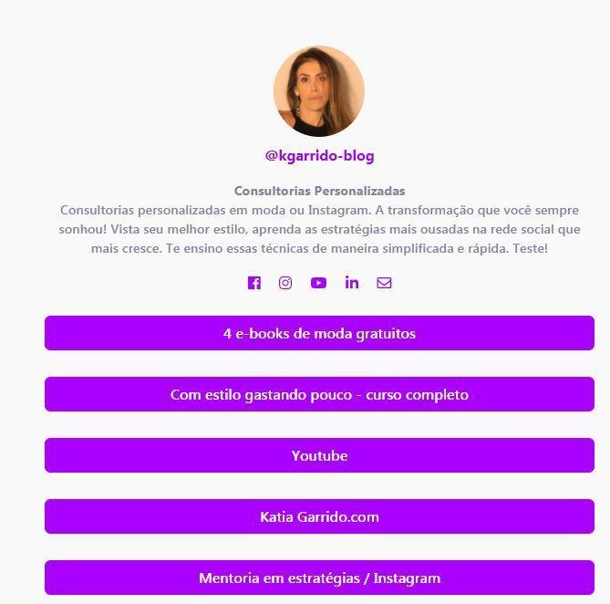 Imagem capa - Como fazer uma boa bio no Instagram por katia  Garrido