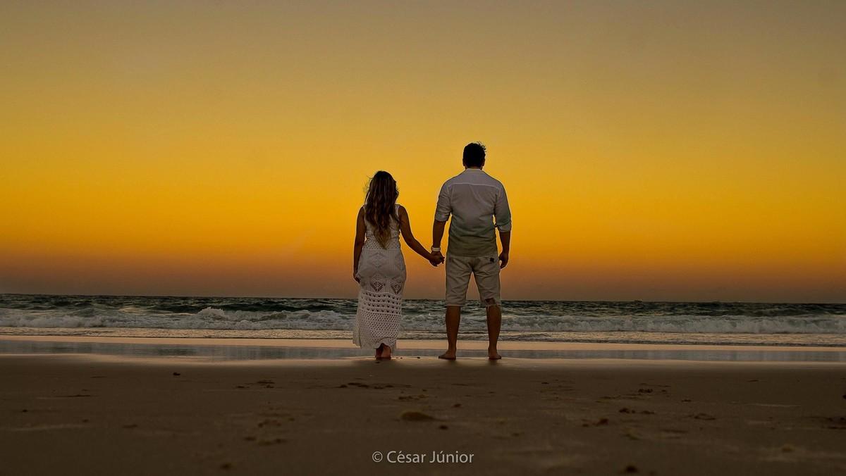 Preferência Ensaios - Ensaio pre casamento Yzabela + Vicente - Praia do Paiva  FJ28