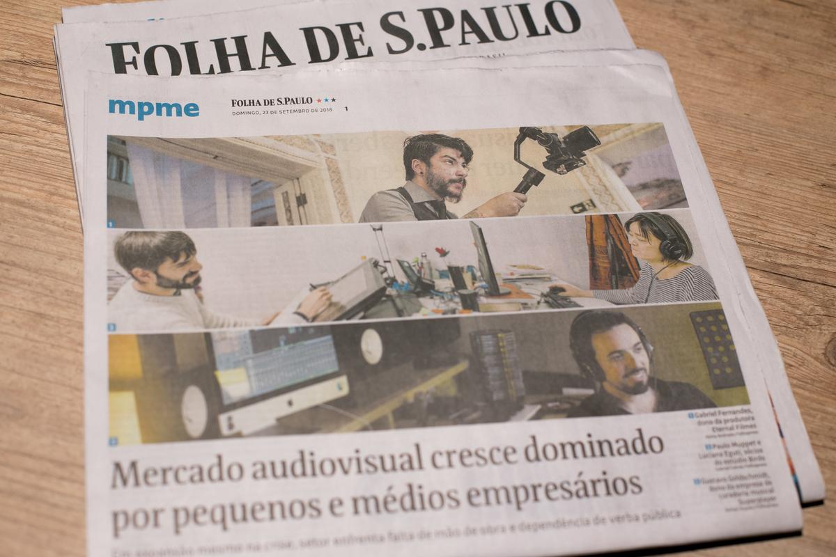 Imagem capa - ENTREVISTA FOLHA DE SÃO PAULO por Eternal Filmes
