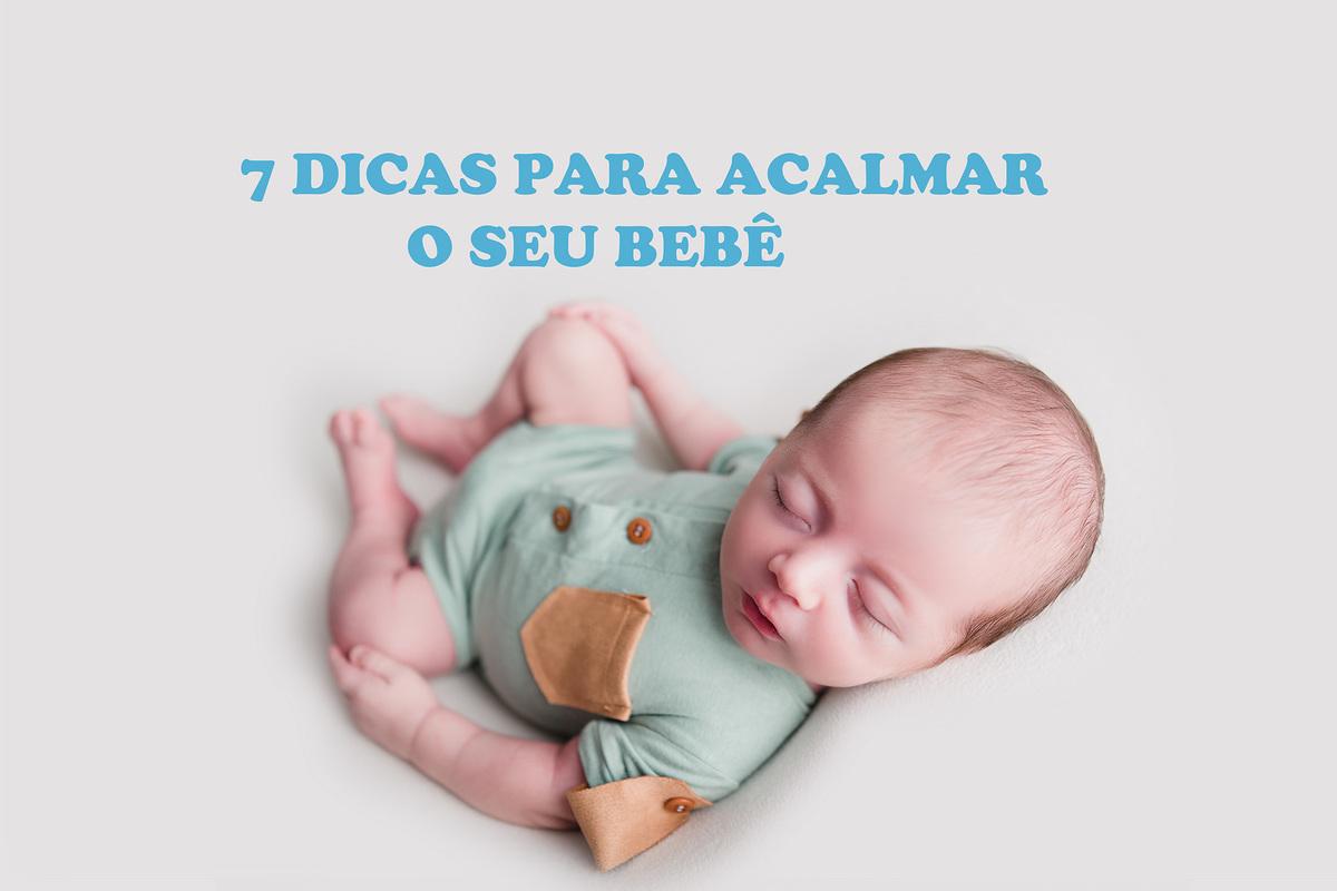 Imagem capa - Dicas para acalmar o bebê recém-nascido  por Rebouças Fotografia