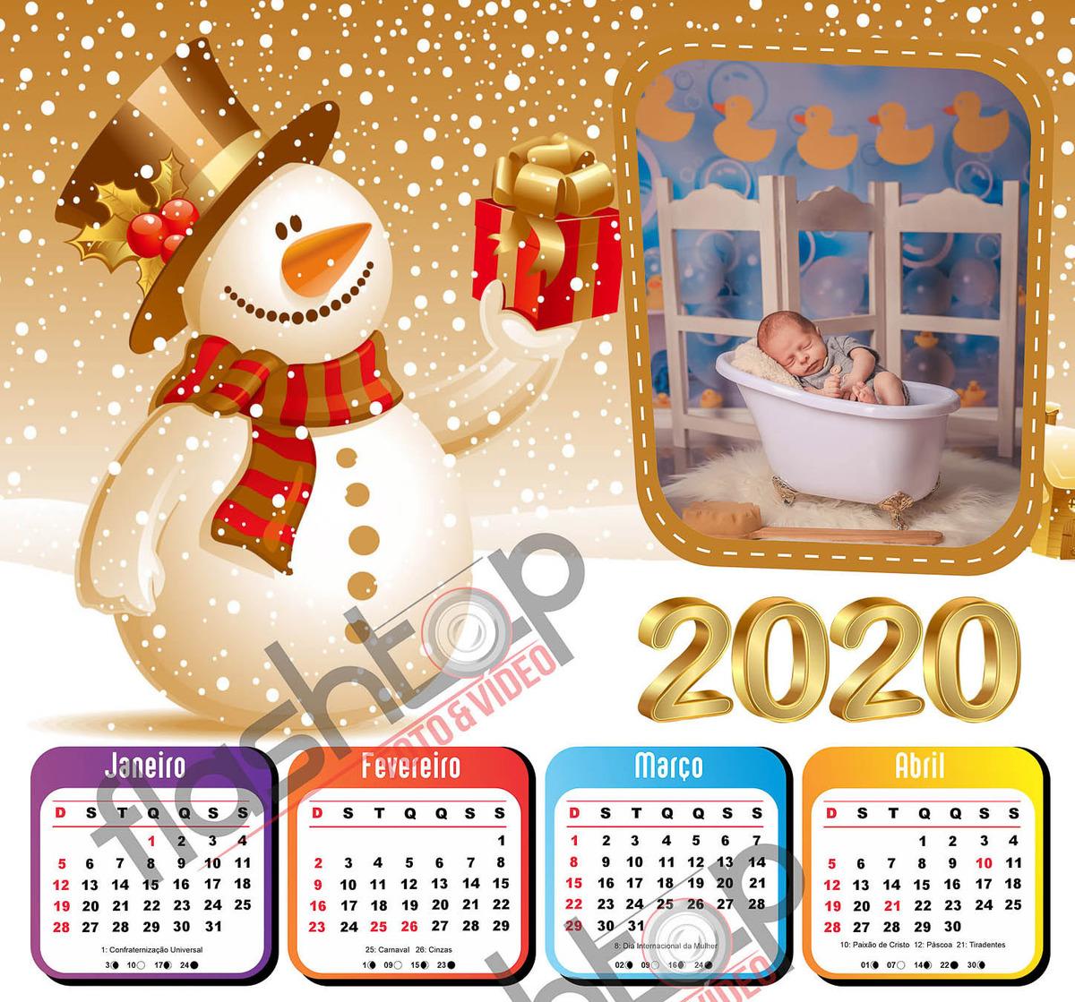 Imagem capa - Calendário 2020 personalizado com e sem ímã por FLASHTOP