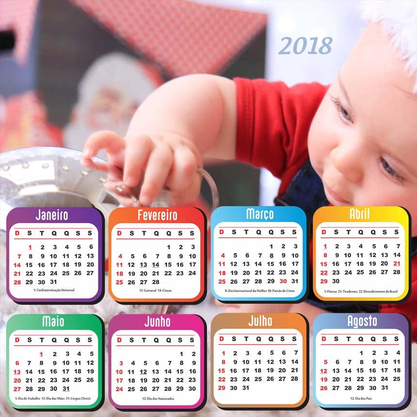 Imagem capa - Calendário 2018 personalizado por FLASHTOP