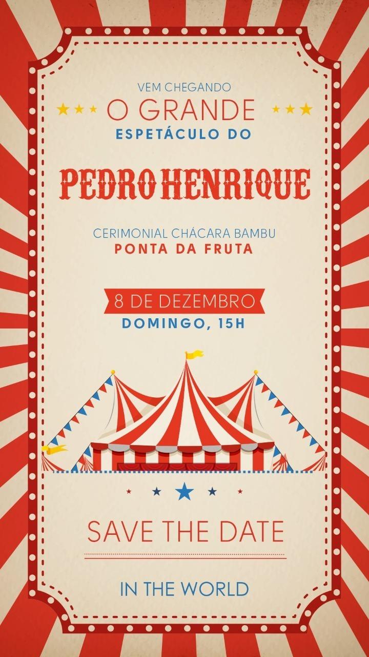 Imagem capa - Convite - Pedro Henrique - Níver 1 Ano por Foto Certa