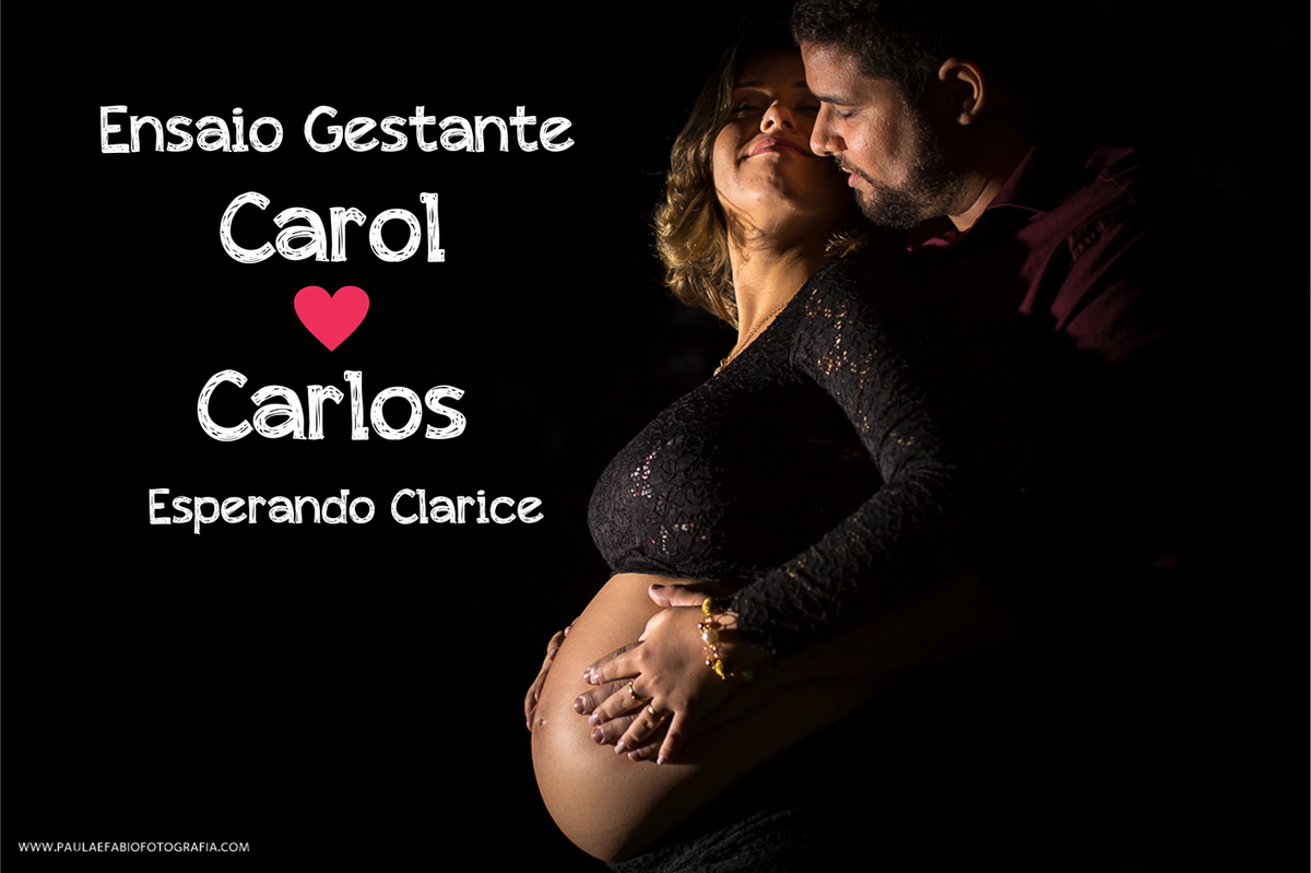 Imagem capa - Ensaio Gestante de Carol e Carlos - Esperando Clarice. por Paula e Fábio Fotografia