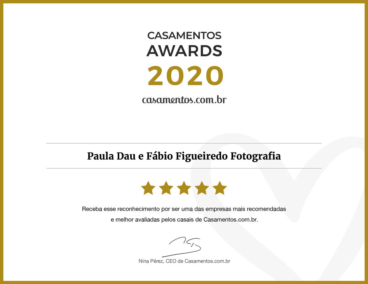 Imagem capa - Apesar das dificuldades desse ano, Paula Dau e Fábio Figueiredo Fotografia ganha um dos Casamentos Awards 2020 e estão entre os melhores profissionais nupciais do Brasil. por Paula e Fábio Fotografia