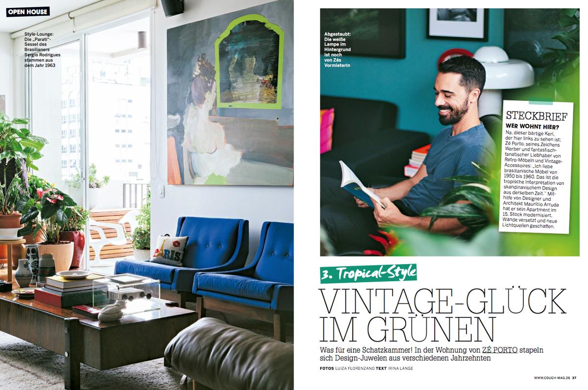 Imagem capa - COUCH Magazine, Alemanha por Luiza Florenzano