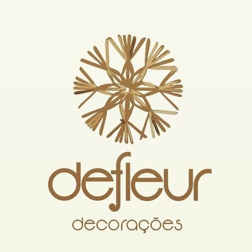 Logotipo de Defleur Decorações