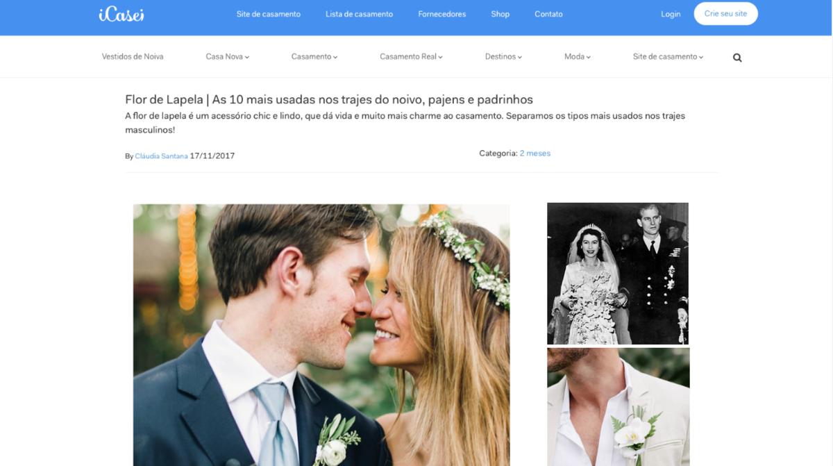 Imagem capa - Flor de Lapela | As 10 mais usadas nos trajes do noivo, pajens e padrinhos. por Boutonniere Lapelas