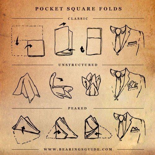 Imagem capa - Como dobrar o lenço para blazer ou terno. por Boutonniere Lapelas