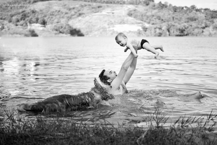 Foto de Ludmilla, Odilon e Samuel - 8 e 10 meses