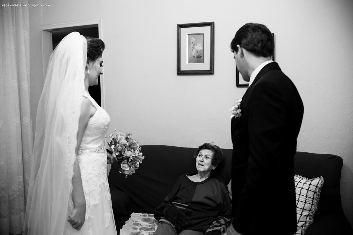 noiva com a vó
