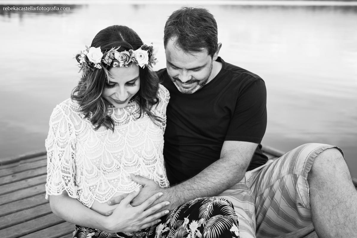 Foto de Miriã e Lucas esperando o Pedro