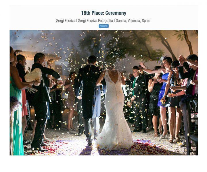 Imagem capa - Fotografía de ceremonia galardonada por ISPWP por Sergi Escriva Fotografia