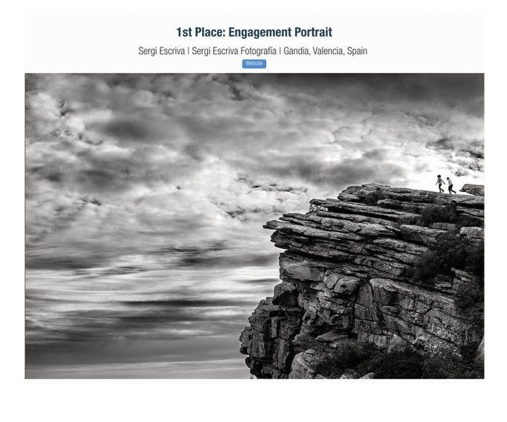 Imagem capa - Primer puesto en concurso de la ISPWP. Categoría Engagment Portrait por Sergi Escriva Fotografia