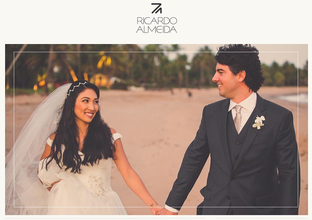 Imagem capa - Ricardo Almeida posta um casamento na praia com fotos nossas em seu site por Mansano Fotografia