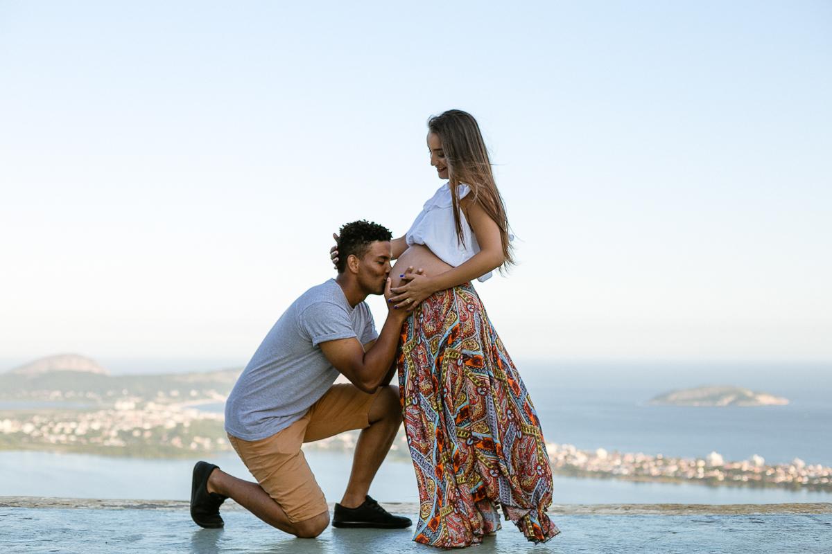 Papai e mamãe amam Emanuel  - Ensaio Gestante Niterói-RJ