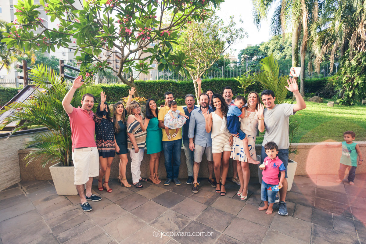 fotografo porto alegre festa infantil foto toda familia junta