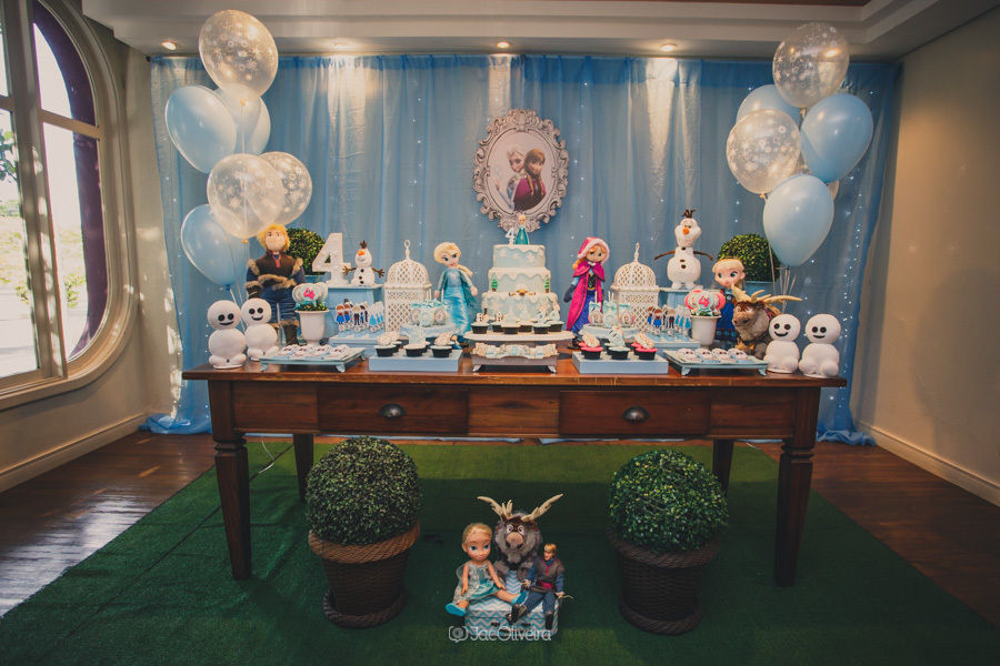 fotógrafo de festa infantil em porto alegre mesa doces frozen bah festas
