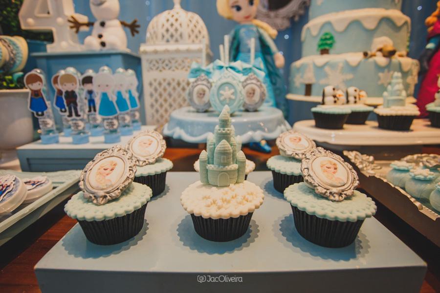 fotógrafo de festa infantil em porto alegre decoração cupcake frozen