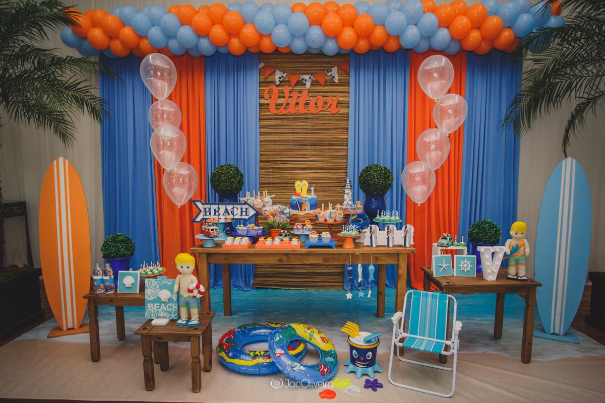 decoração festa de menino praia yupi festas canoas5