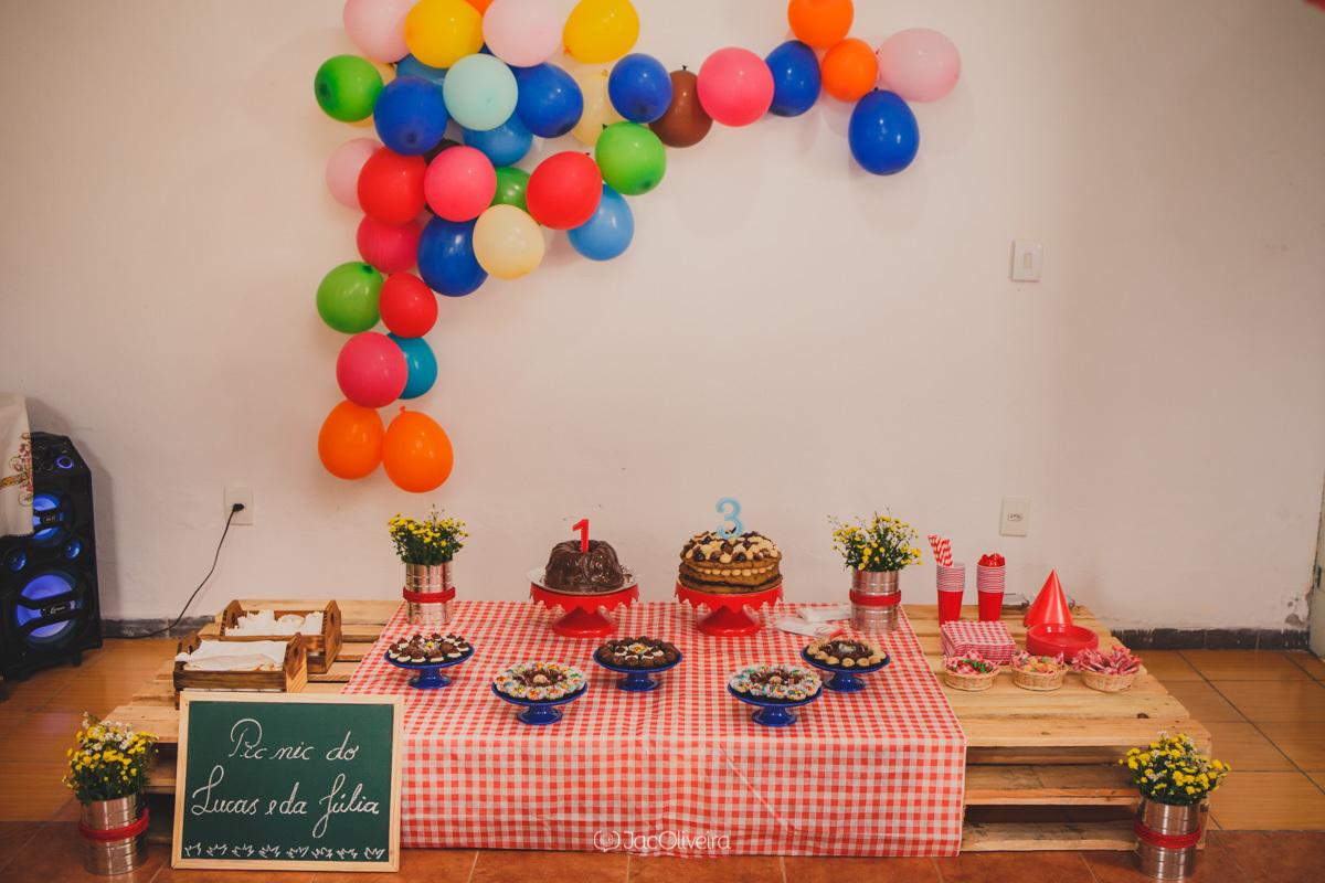 festa piquenique em casa decoração