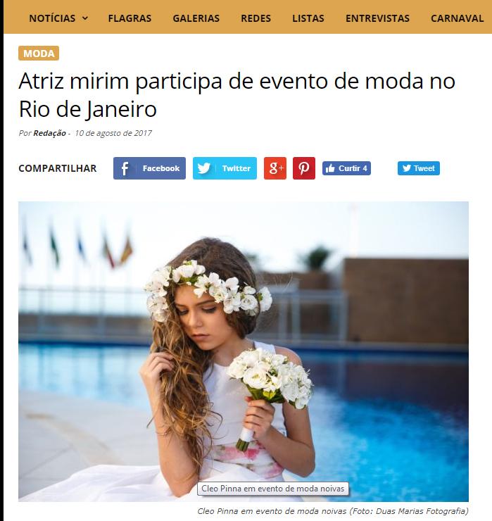 Imagem capa - Atriz Cléo Pinna - Diretório dos Famosos por Duas Marias Fotografia