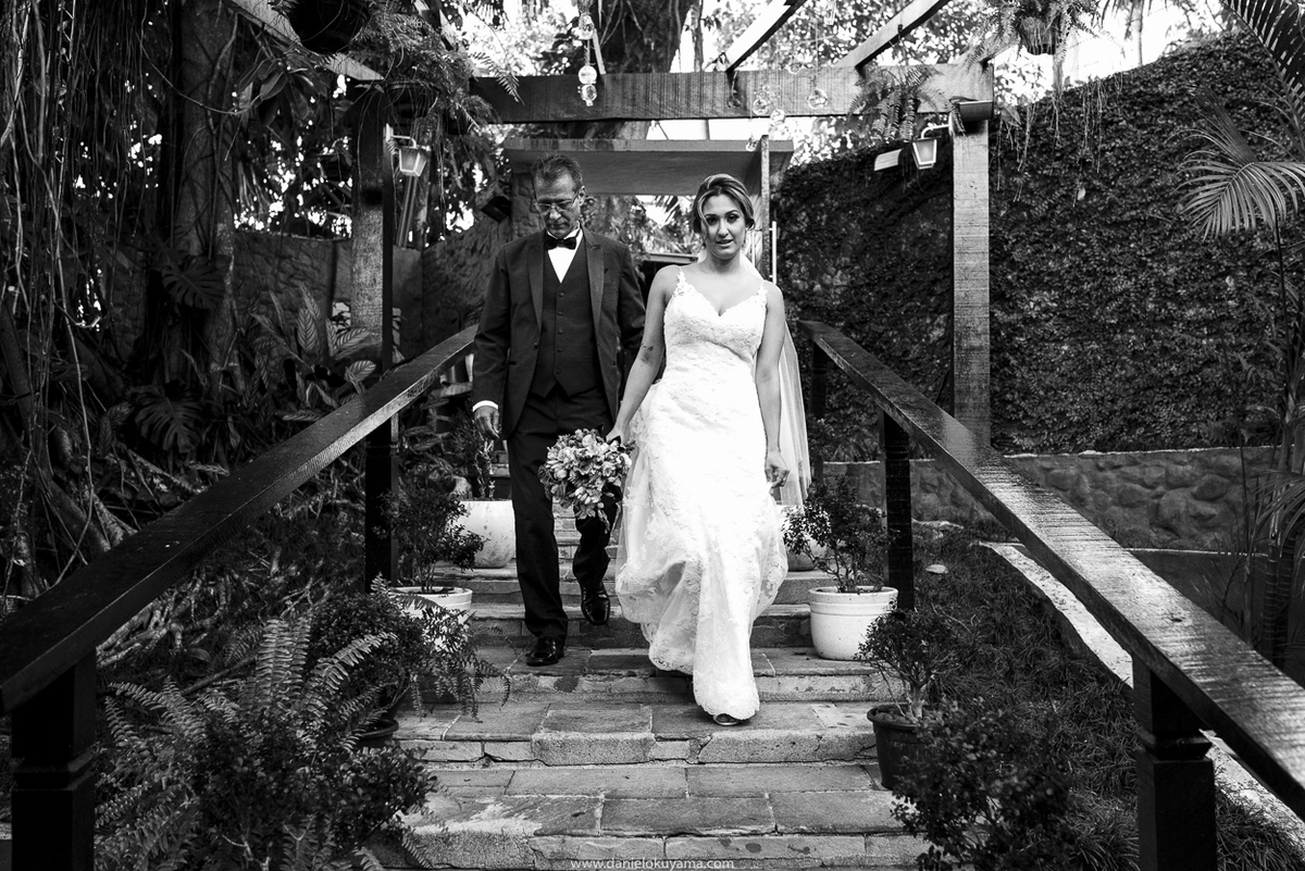 noiva a caminho do casamento com o pai em santos sp mansao da ilha