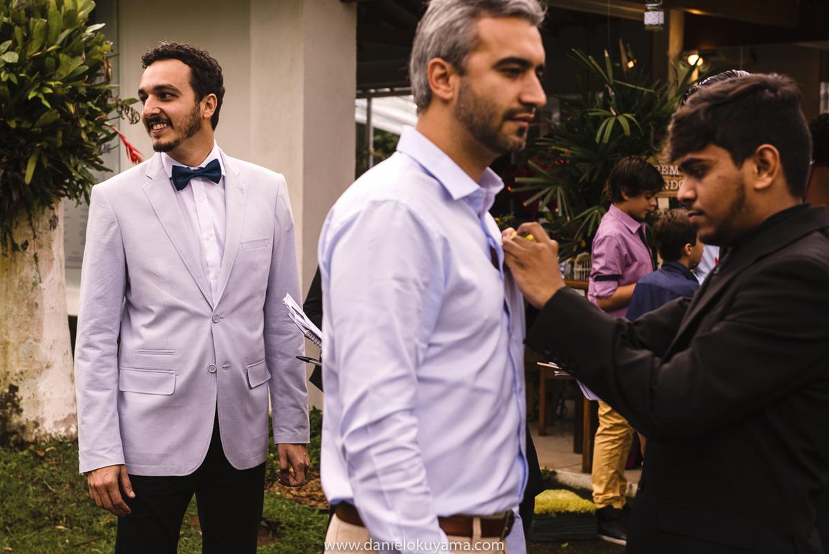 Antes da cerimonia de casamento no Golf Clube Guarujá, São Paulo