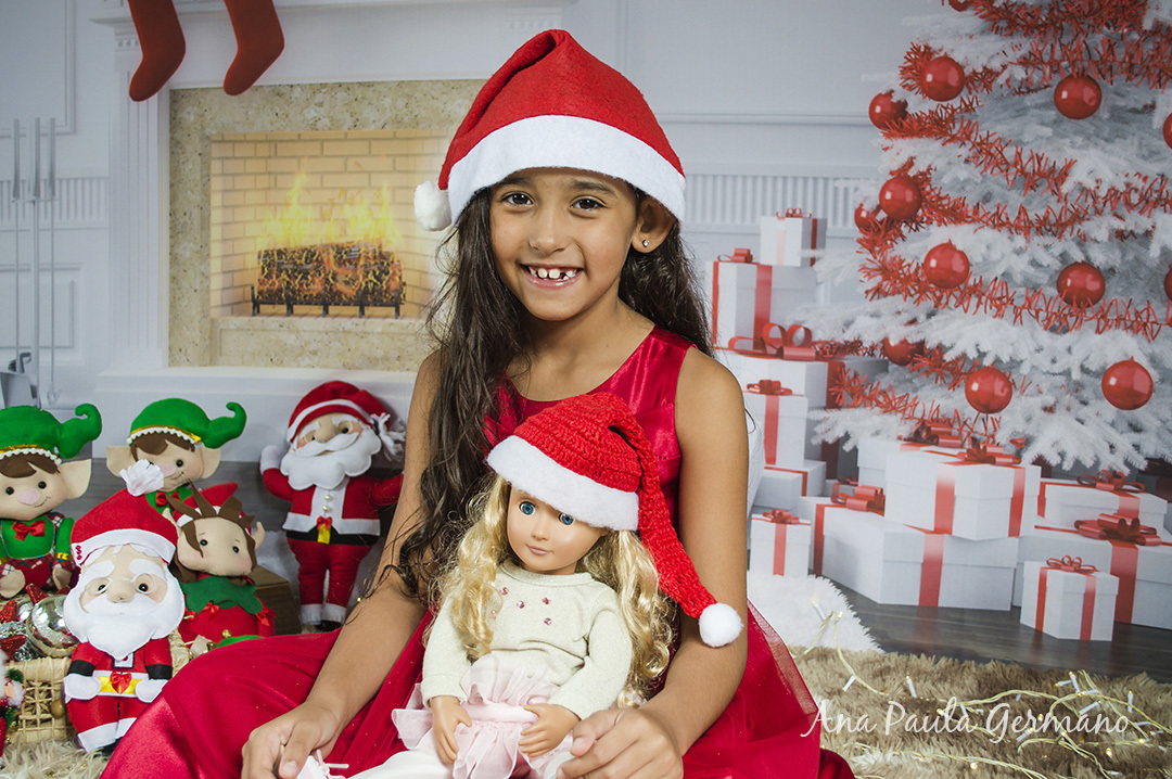 Ensaio Fotográfico de Natal em estúdio