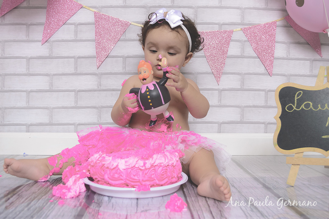 smash the cake - menina - estúdio