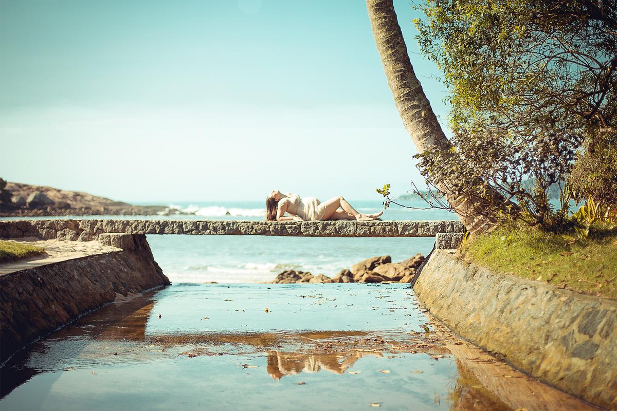 Imagem capa - Ensaio gestante na Praia  por Leonardo Mourão França