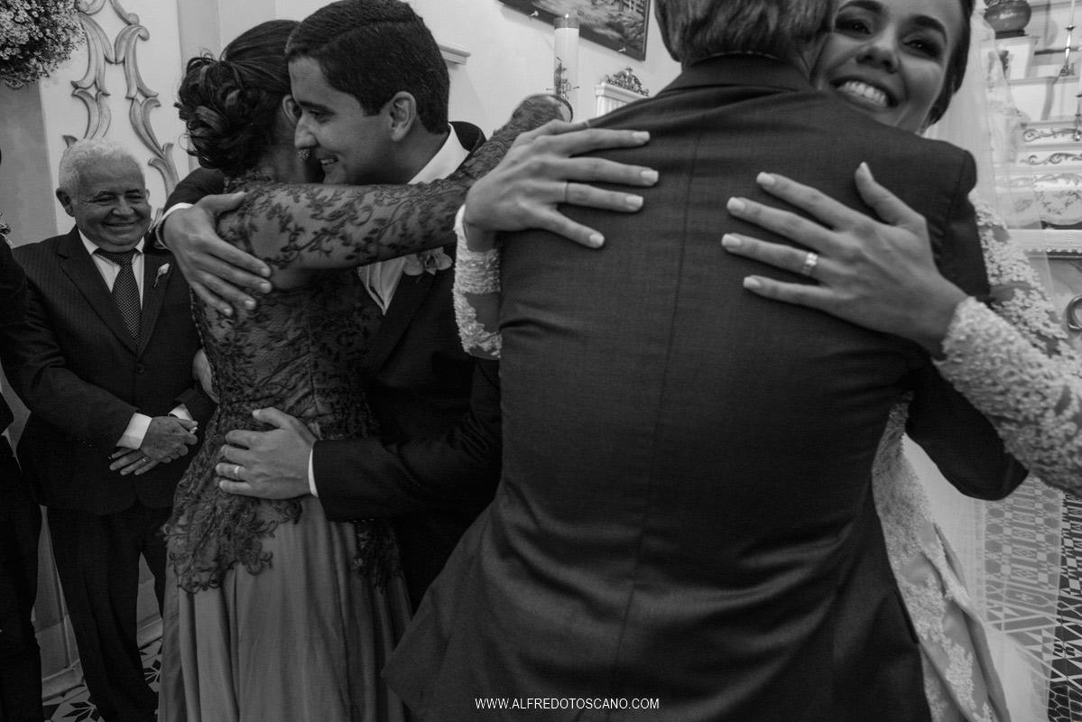 abraços na cerimonia