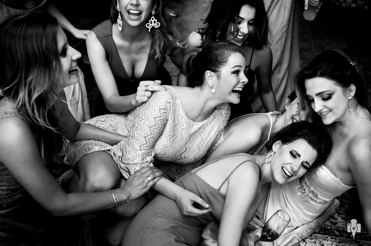 fotografias de casamento com festa super intima