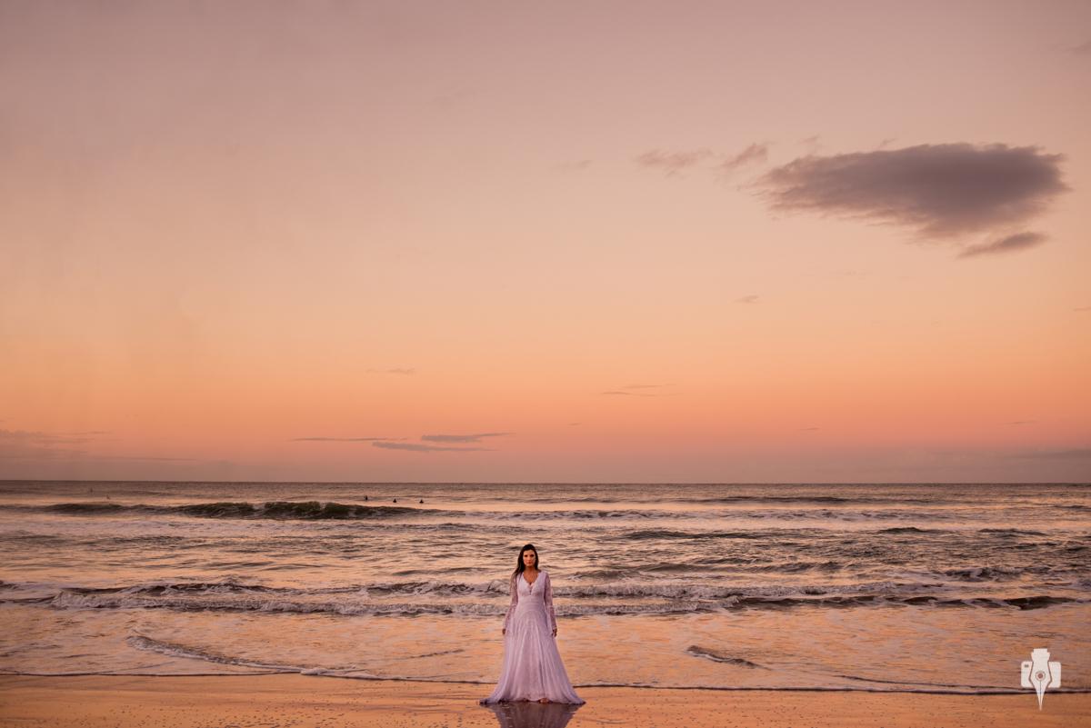 ensaio externo na praia do rosa