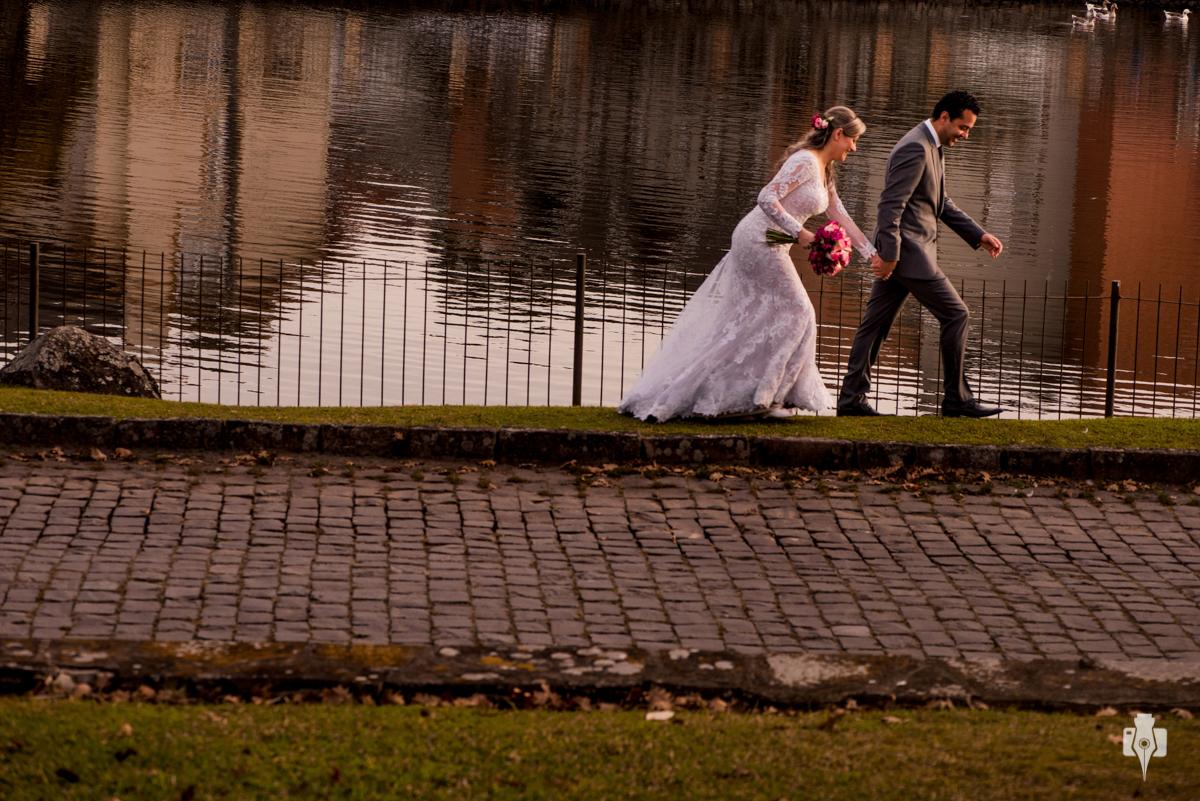 casamento com vista para o lago