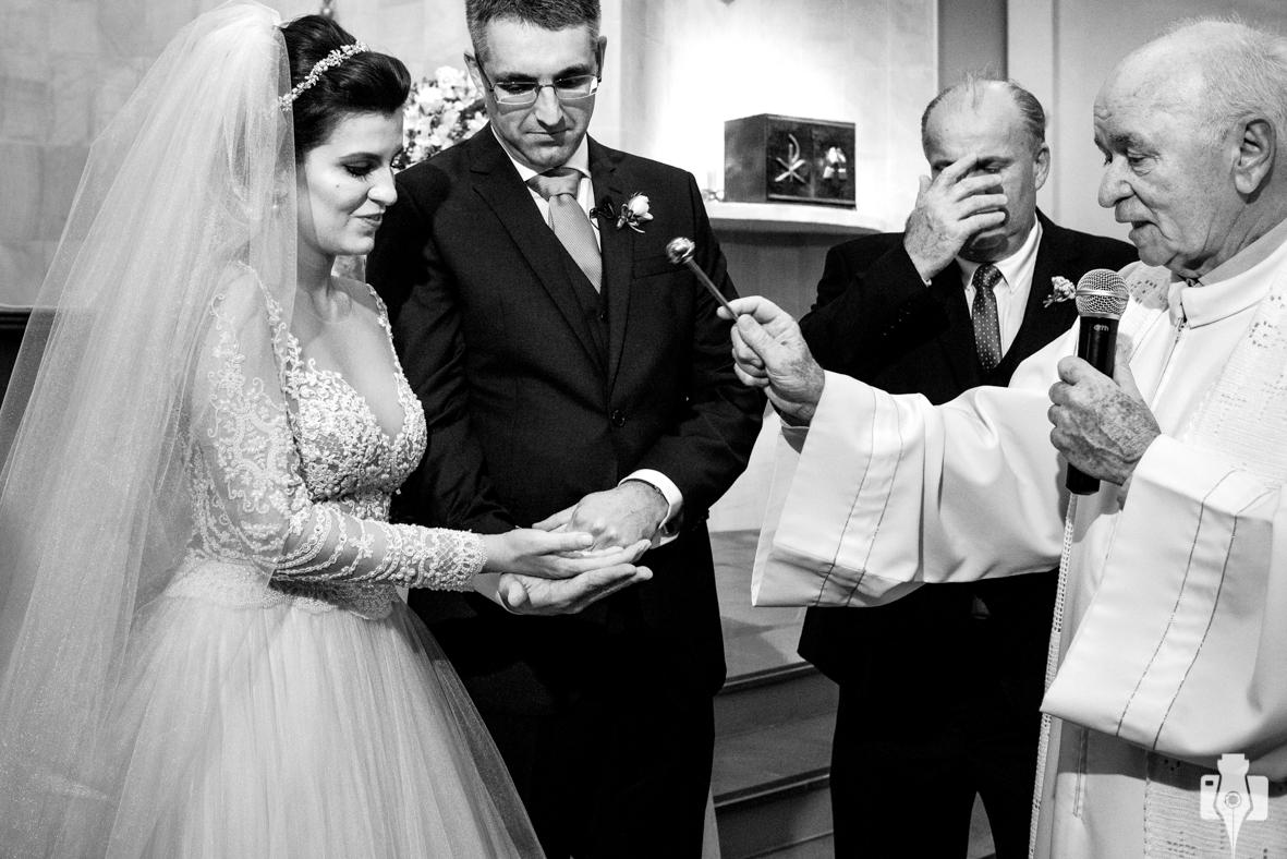 muita emoção no casamento