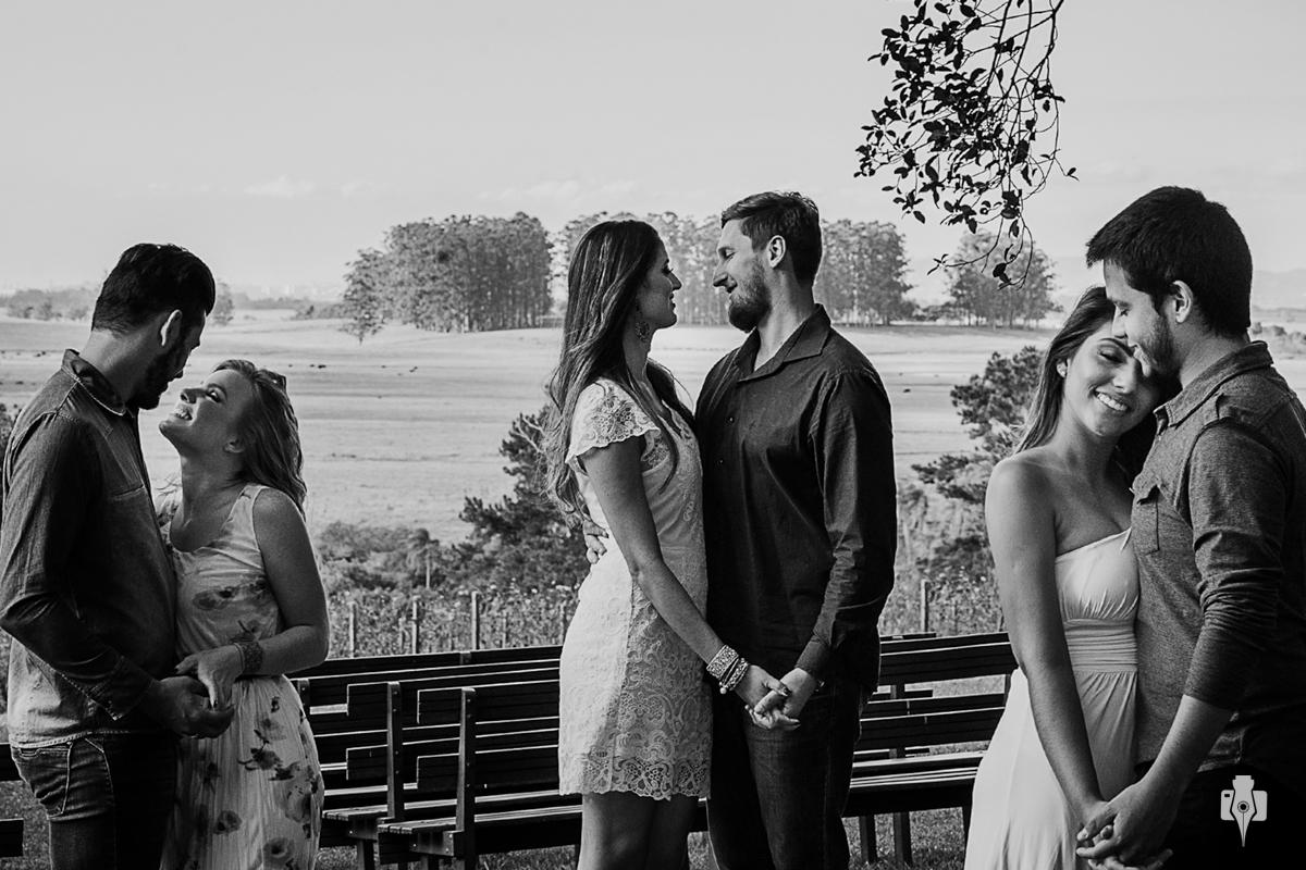 ensaio triplo de casal pre casamento triplo na vinicula laurentia na barra do ribeiro rs